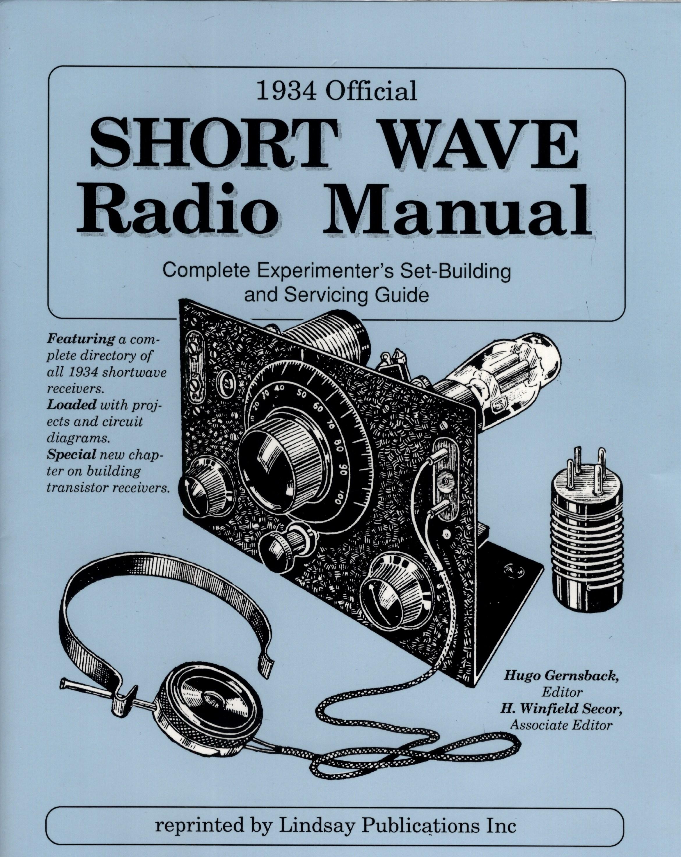 1934 official short wave radio manual
