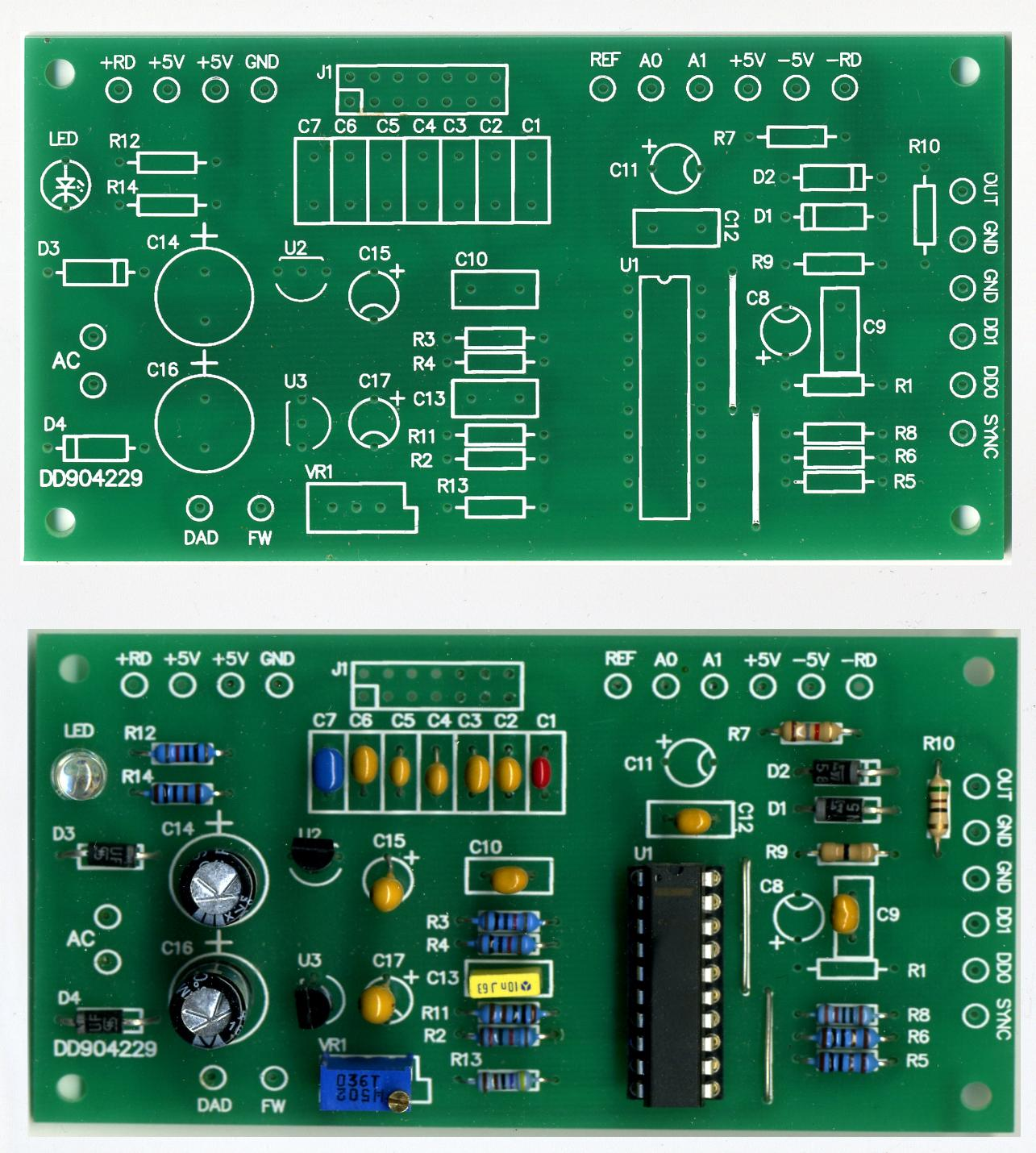 printed circuit board for max038 functions generator rh radioelec com Printed Wiring Board Standards Printed Circuit Board Artwork