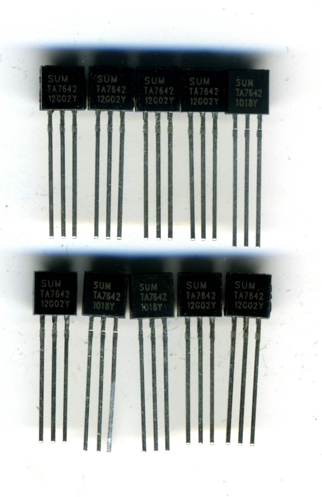Lot de 10 x TA7642 - Circuit Intégré Récepteur Radio AM PO-GO = ZN414